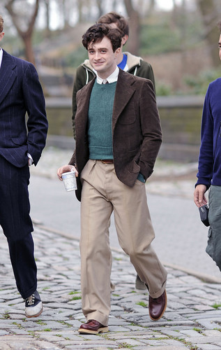 On the set of «Kill Your Darlings» - March 20, 2012 - HQ