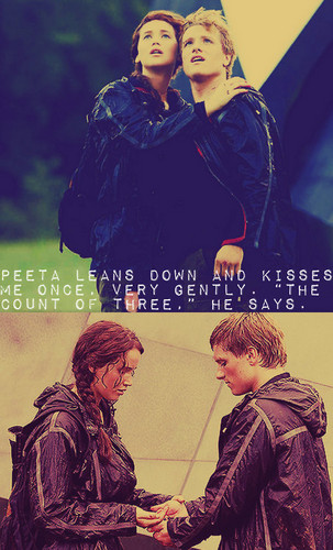 Peeta Mellark and Katniss Everdeen kertas dinding titled P&K<3