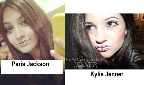 Paris Jackson and Kylie Jenner same tattoo lips