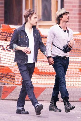 Paul & Ian holding hands manip