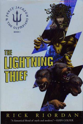 Percy Jackson the Lightning Thief first cover