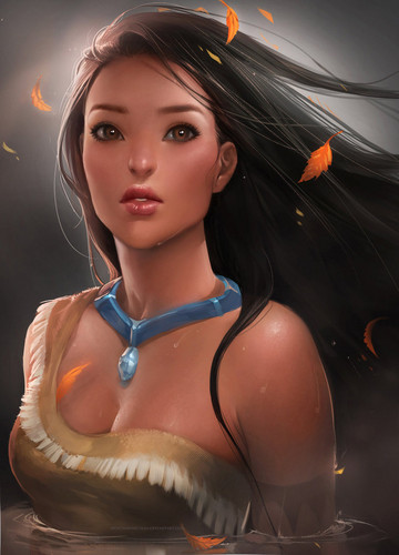 Pocahontas - childhood-animated-movie-heroines Fan Art