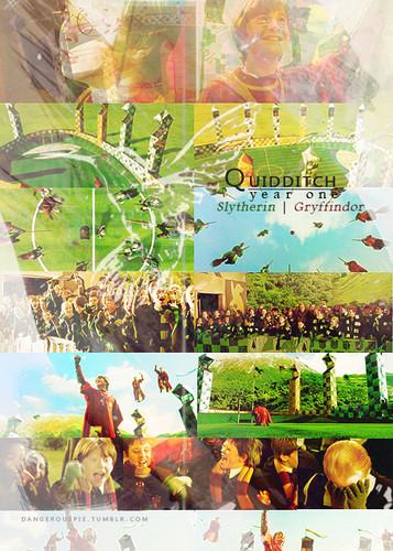 Quidditch mwaka One Slytherin VS Gryffindor