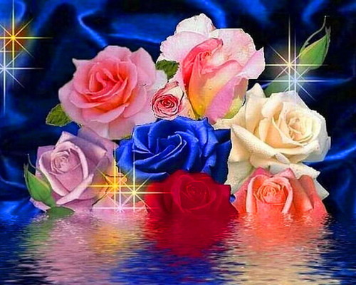 Daydreaming wallpaper with a bouquet, a rose, and a camellia called Roses