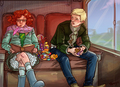 Scorpius & Rose on the Hogwarts Express - rose-and-scorpius fan art