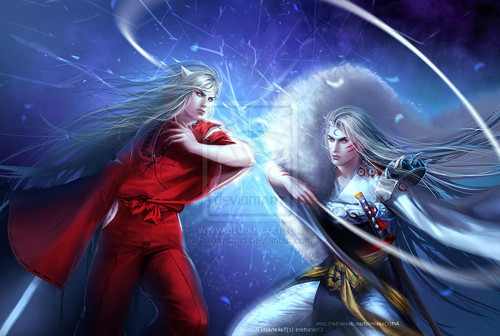 sesshomaru wallpaper entitled sesshomaru vs inuyasha