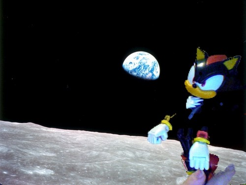 Shadow in space.  - shadow-the-hedgehog Photo