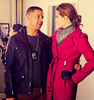 Castle photo possibly containing a coatdress, a burberry, and a shirtwaist titled Stana Katic & Jon Huertas♥