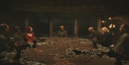Stannis council at Dragonstone