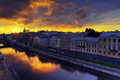 Sunrise above St. Petersburg