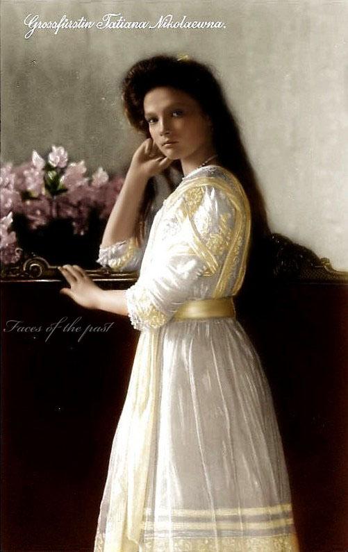 Tatiana Nikolaevna Romanova (May 29 (O.S.)/June 10 (N.S.), 1897 – July 17, 1918)