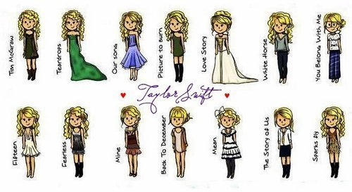 Taylor's styles in the música videos