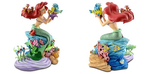 Walt Disney Figurines - Princess Ariel, Flounder, Sebastian & Friends