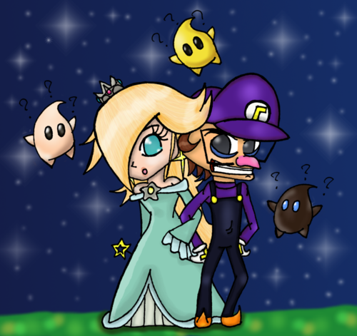 Waluigi and Rosalina art