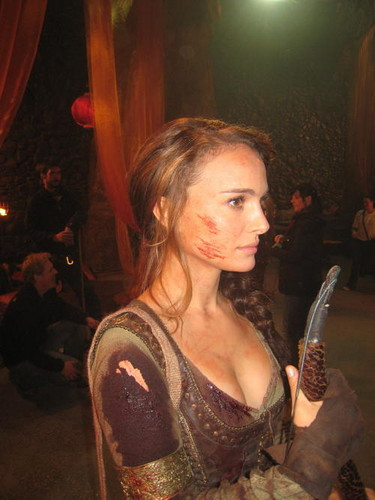 Natalie Portman wallpaper entitled Your Highness Behind the Scenes