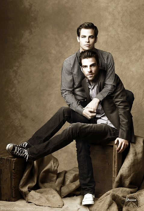 Zachary Quinto Chris Pine Photo Shoot