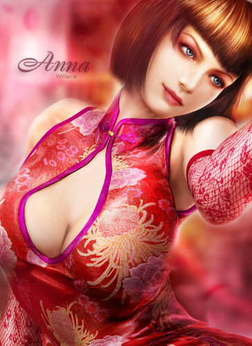 Tekken wallpaper possibly with a portrait called anna