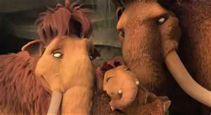 peaches from ice age Hintergrund entitled ellie,manny and peaches