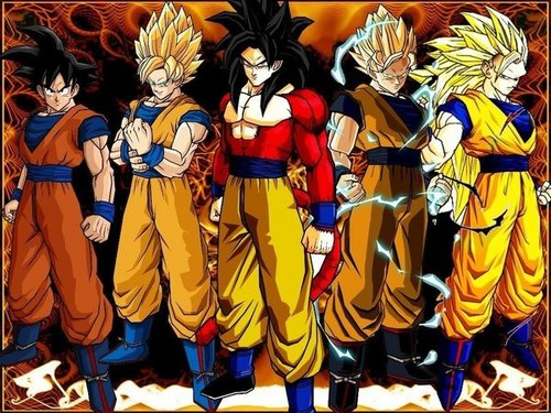 Dragon Ball Z wallpaper called goku all ssj forms