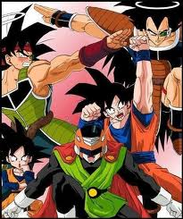 Dragon Ball Z wallpaper with Anime entitled Goku force