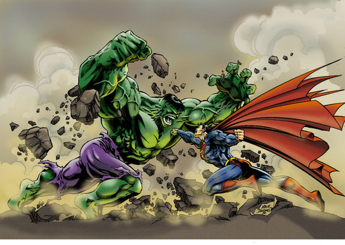 The Incredible Hulk wallpaper with anime entitled hulk vs superman