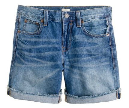jcrew boyfriend denim shorts