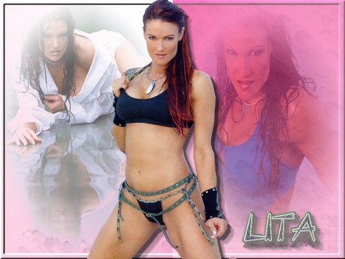 "Amy ""Lita"" Dumas fond d'écran with a bikini entitled lita"