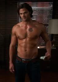 Supernatural wallpaper with a six pack and a hunk called sam