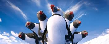 sven and female adelie penguins