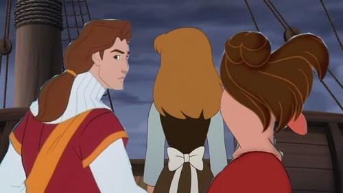 Disney crossover karatasi la kupamba ukuta probably with anime called voyage of discovery