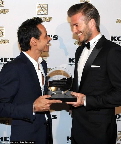 David And Victoria At The ASCAP Awards