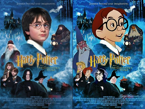 "Disney crossover karatasi la kupamba ukuta with anime entitled ""Harry Potter and the Philosopher's Stone"""