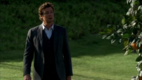 The Mentalist fond d'écran containing a business suit and a suit entitled 1x23- Red John's Footsteps