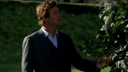 The Mentalist fond d'écran containing a business suit titled 1x23- Red John's Footsteps