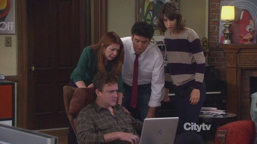 Lily Aldrin wallpaper containing a laptop entitled 7x02 - The Naked Truth