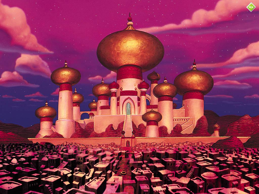 A picture of were the story takes place. Agrabah.