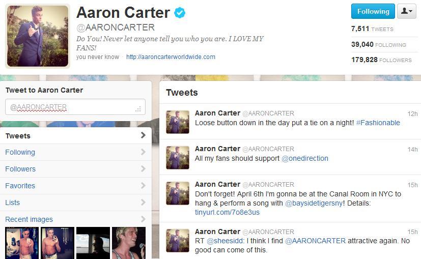 Aaron Carter Tour Setlist