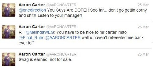 泽恩·马利克 壁纸 entitled Aaron Carter supports One Direction <3