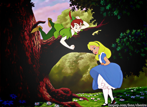 disney crossover wallpaper called Alice ♥ Peter Pan