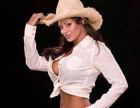 Candice Michelle wallpaper with a snap brim hat, a fedora, and a campaign hat called Candice Michelle Photoshoot Flashback