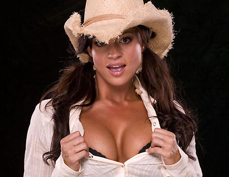 Candice Michelle پیپر وال with a snap brim hat, a fedora, and a campaign hat titled Candice Michelle Photoshoot Flashback