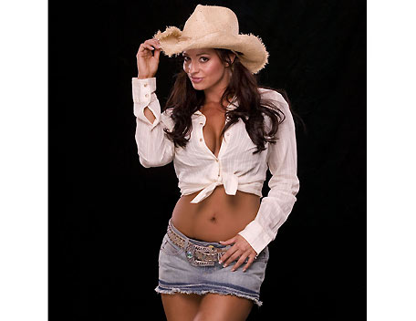 Candice Michelle 壁纸 with a snap brim hat, a campaign hat, and a fedora titled Candice Michelle Photoshoot Flashback