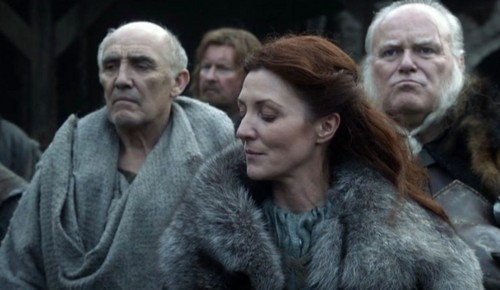 Catelyn with Luwin and Rodrik