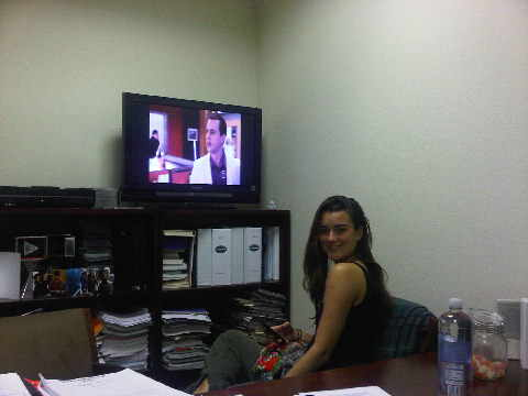 Cote watching NCIS