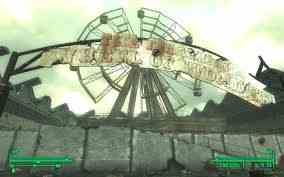 Fallout 3 fond d'écran possibly containing a resort, a business district, and a circus tent called Fallout 3