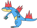 Feraligatr with iPod