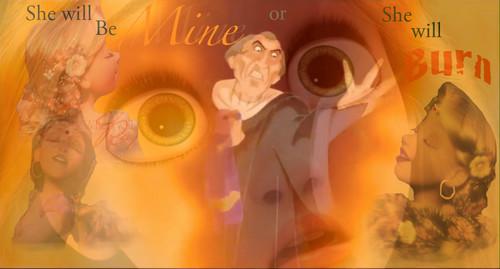Frollo sees Rapunzel in Hellfire