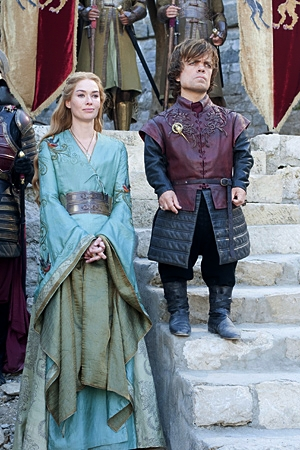 Game Of Thrones Season 2 Production Still: Cersei & Tyrion
