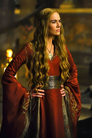 Game Of Thrones Season 2 Production Still: Cersei