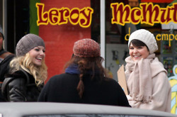 Ginnifer Goodwin and Jennifer Morrison on the Set of Once Upon a Time in Vancouver Dec 14